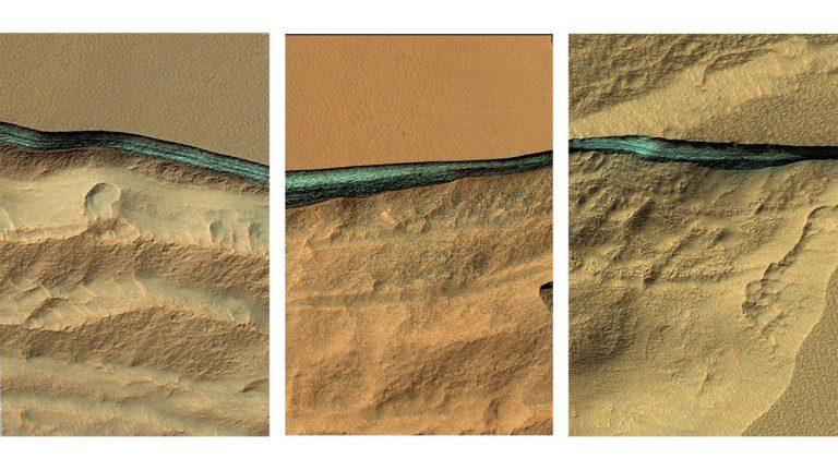 "Se descubrieron ""glaciares enterrados"" en Marte."