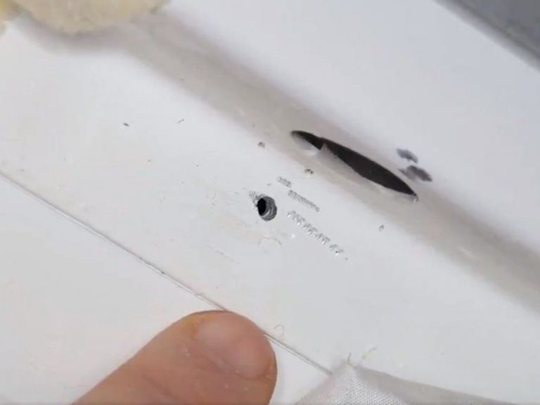 La Estación Espacial Internacional fue taladrada.