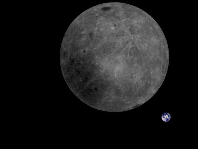 La primer foto china del lado oscuro de la Luna