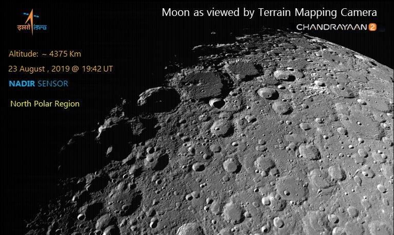 La Chandrayaan-2 está terminando de acomodarse alrededor de la Luna.