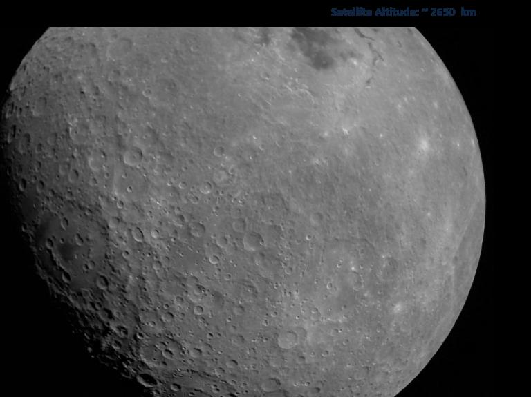 La Luna vista desde la Chandrayaan-2 camino a orbitarla.