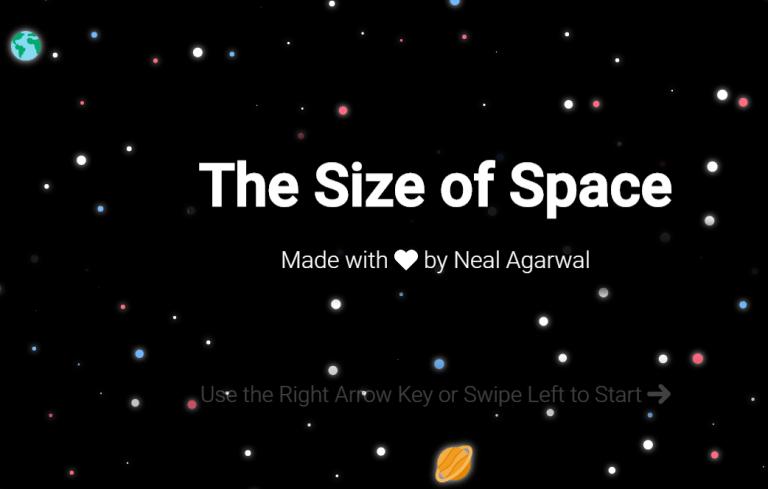 Una visualización interactiva para tomar conciencia del tamaño del universo.