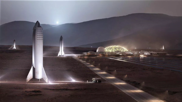 SpaceX quiere una colonia en Marte de 1 millón de humanos para 2050.