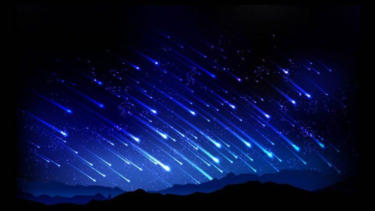 """La primera """"lluvia de estrellas"""" del año."""