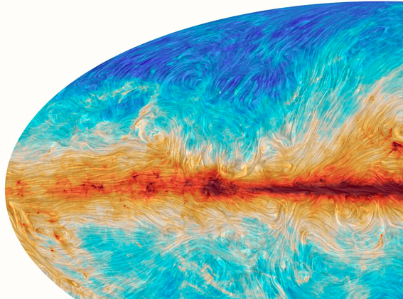 Las líneas de corriente magnéticas de la Vía Láctea