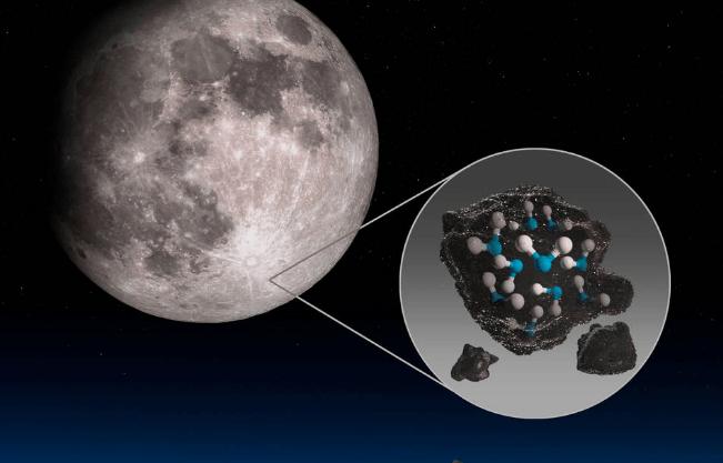 Se descubrió agua en la superficie de la Luna iluminada por el sol.