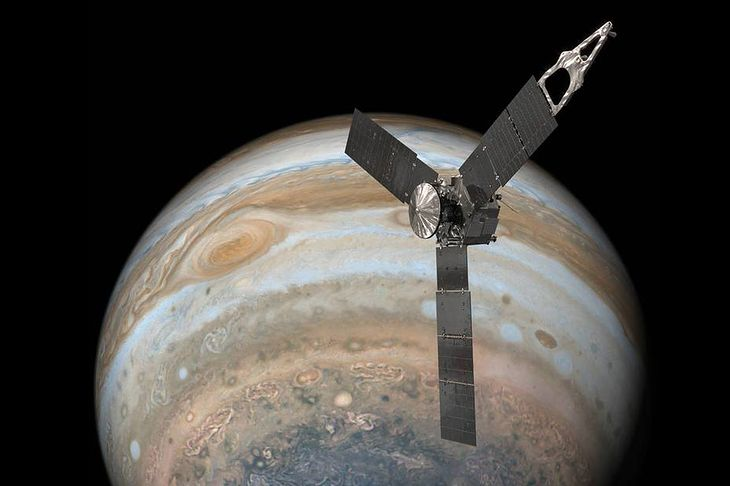 Sobrevuela Júpiter junto a la sonda Juno.