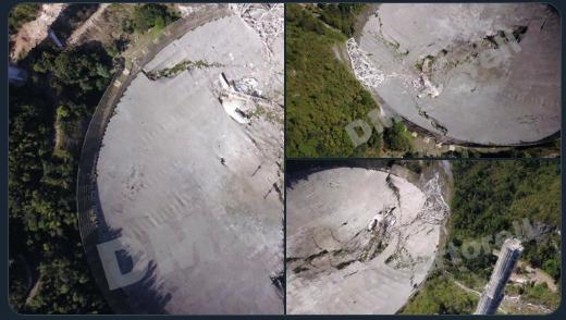 Finalmente se desplomo el radiotelescopio de Arecibo.