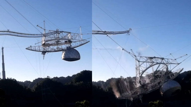 El colapso de Arecibo [VIDEO].