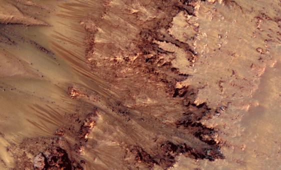 El deshielo, ¿es responsable de los deslizamientos de tierra marcianos?