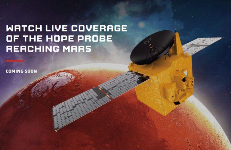 ¡Mira la llegada de la Sonda árabe HOPE a Marte! [VIVO]